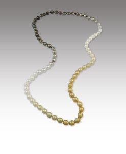 Multi-Color Graduated Pearl Necklace