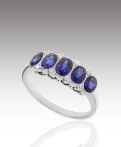 Sapphire Ovals Ring