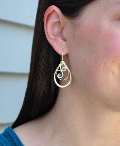 Waves in Teardrop Earrings