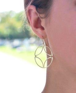 Hinged Disc Earrings