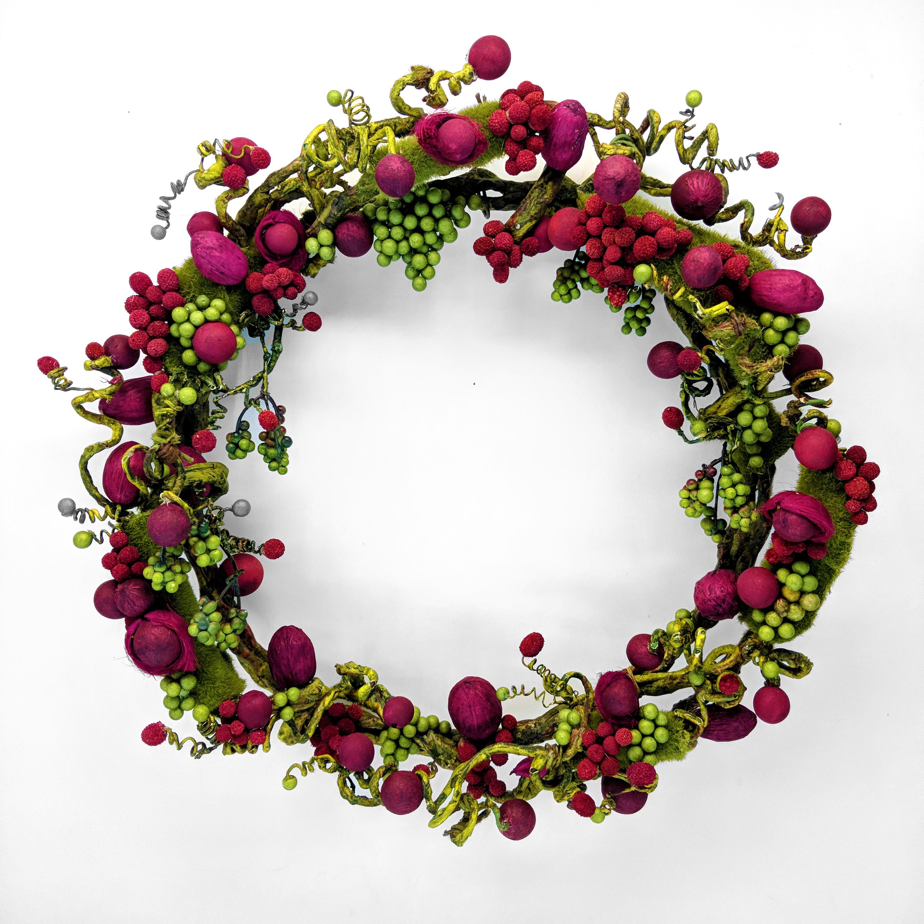 handmade holiday year round wreath dbstevens