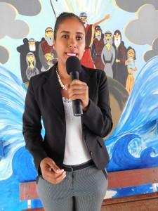 Bestuurslid Serena Essed: 'Ik geloof in Suriname. Het land heeft voldoende ontwikkelingsbronnen waardoor wij uit de armoede kunnen komen'