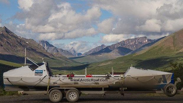 Rowers Begin Journey Across The Bering Strait