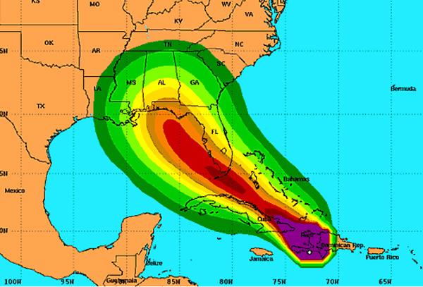 Hurricane Isaac 2012 Path: Live Tracking of Hurricane Path