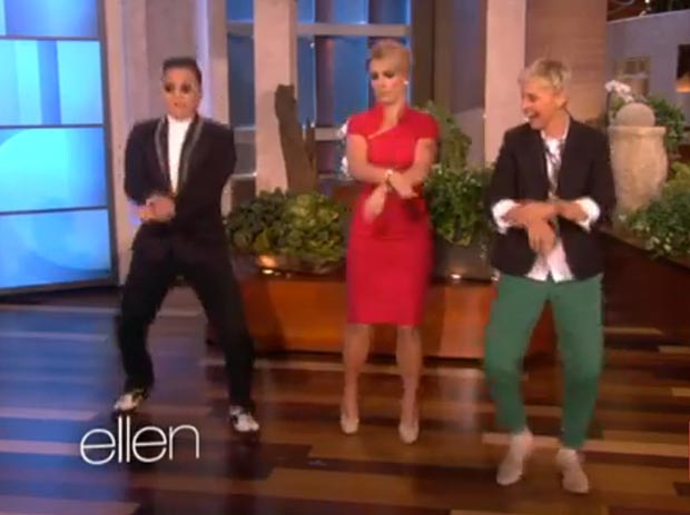 Britney Spears learns to dance 'Gangnam Style'
