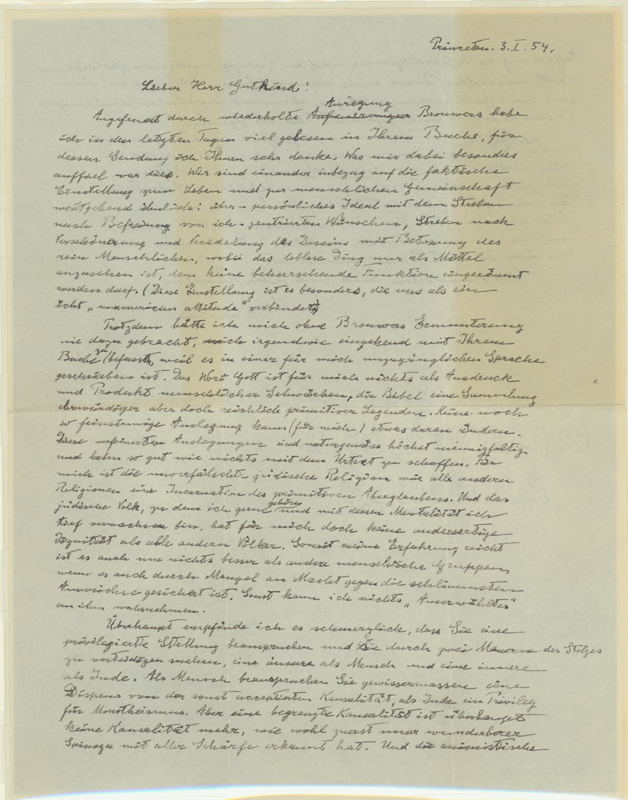Einstein 'God Letter' could Sell for at least $6 million