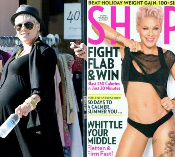 Pink Loses 55 pounds, Rocks Cover Of Shape To Prove It