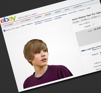 Weirdest eBay Auctions: Justin Bieber's Hair