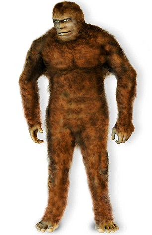 Terrifying: If the reports of one walker are to be believed, the residents of Royal Tunbridge Wells could have a giant Bigfoot-like creature in their midst (file picture)