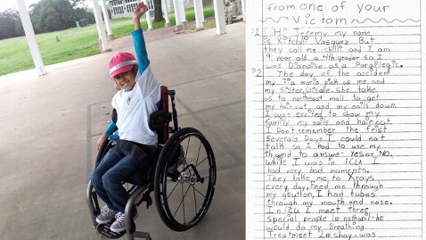 Girl Paralyzed By Driver Has Jury in Tears