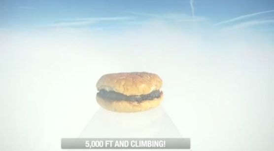 First Hamburger In Space: Suck It Baumgartner!