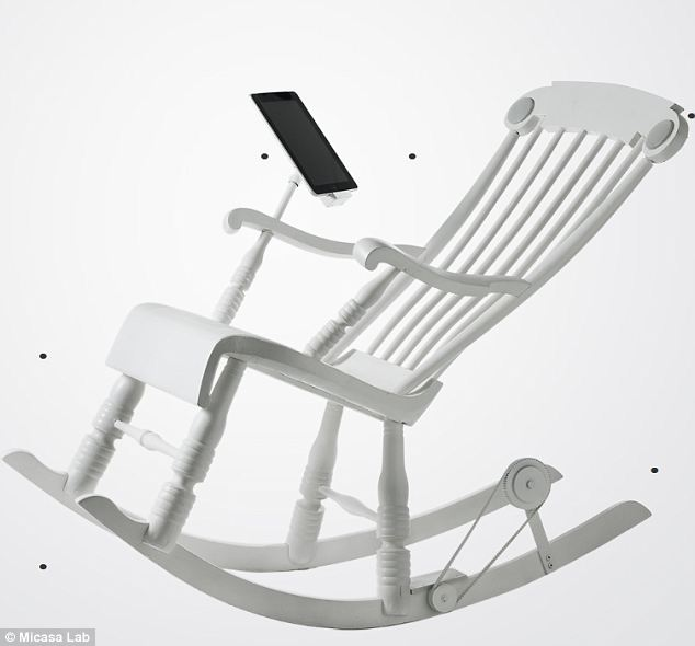 iRock Rocking chair charges Your iPad or iPhone