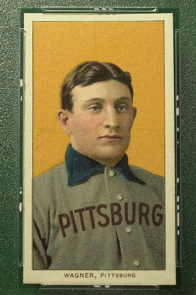 Chris Hondros/Newsmakers/Getty Images A T206 Honus Wagner card sold Saturday for $2.1 million in an online auction, the highest price paid for a card in a public sale.