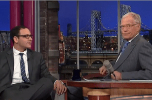 David Letterman - Fired Anchor, Letterman Consoles A. J. Clemente After His Blunder