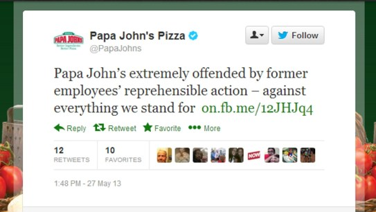 Papa John's Racist Voicemail Released:  Company Issues Apology (AUDIO)