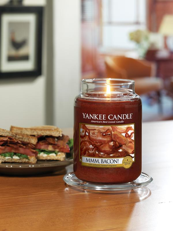 Yankee Candle Yankee Candle has added a bacon-scented candle to its Man Candles lineup this year.