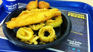 Long John Silver's Big Catch contains 33 grams of trans fat and 3700 milligrams of sodium, said the Center for Science in the Public Interest. (CSPI)