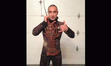 Man catches 18 pound lobster With His Bare Hands