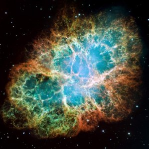 crab nebula noble gas fund in space