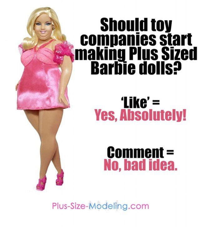 Plus Size Barbie Sparks Debate