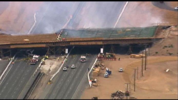 I-15 bridge collapse: Construction Causes Massive Bridge Collapse