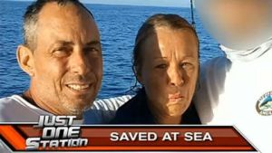 Couple treaded water 14 hours: Capsized Couple Treads Water for 14 Hours
