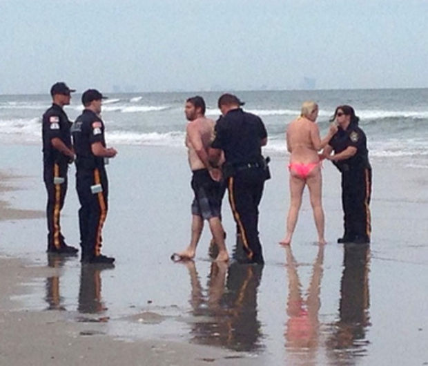 @MJG381/INSTAGRAM Matthew McPeak and Stephanie Wellington were arrested Sunday, June 8, 2014 for lewdness after having sex on a NJ beach.