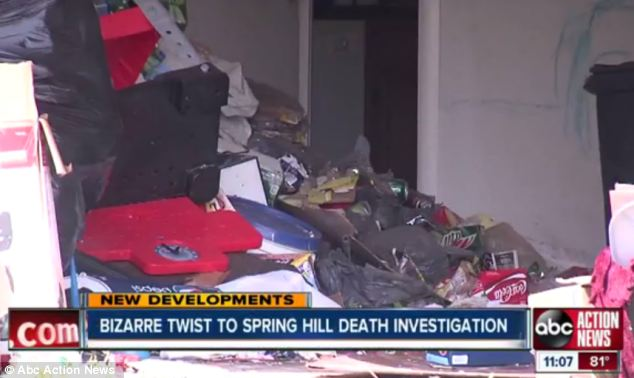 Disarray: The inside of the home was a mess and the cleaners thought the smell was due to dead rodents