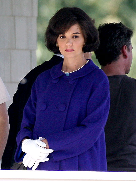Katie Holmes on the set of The Kennedys SPLASH NEWS ONLINE