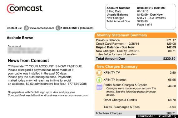 Comcast apologizes to customer