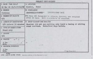 UFO reports declassified
