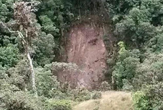 Christ apparition landslide
