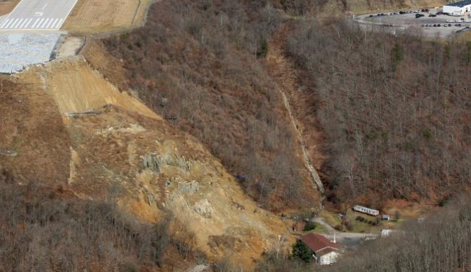 West Virginia landslide