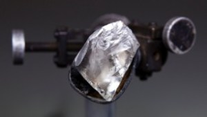 The uncut diamond weighed over 200 carats.