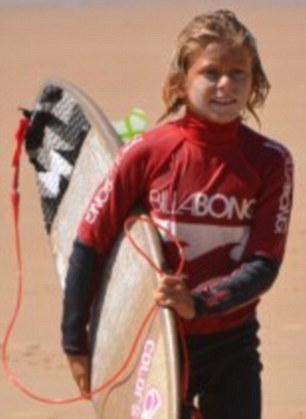 Elio Canestri, 13, was attacked while bodyboarding with seven others in an area banned to swimmers off the coast of Reunion, near Madagascar
