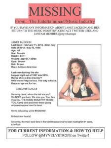 Janet Jackson missing