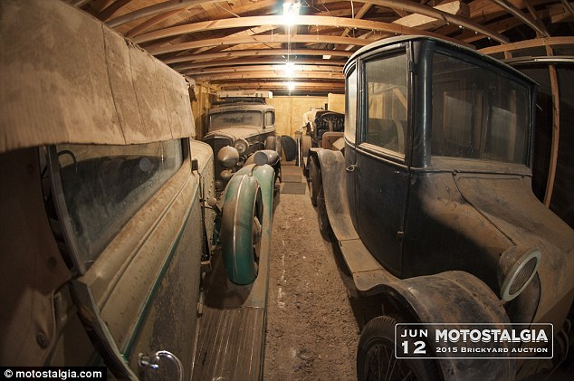 The cars found in the barn (pictured) are owned by a man who moved to Texas from Wisconsin in the 70s
