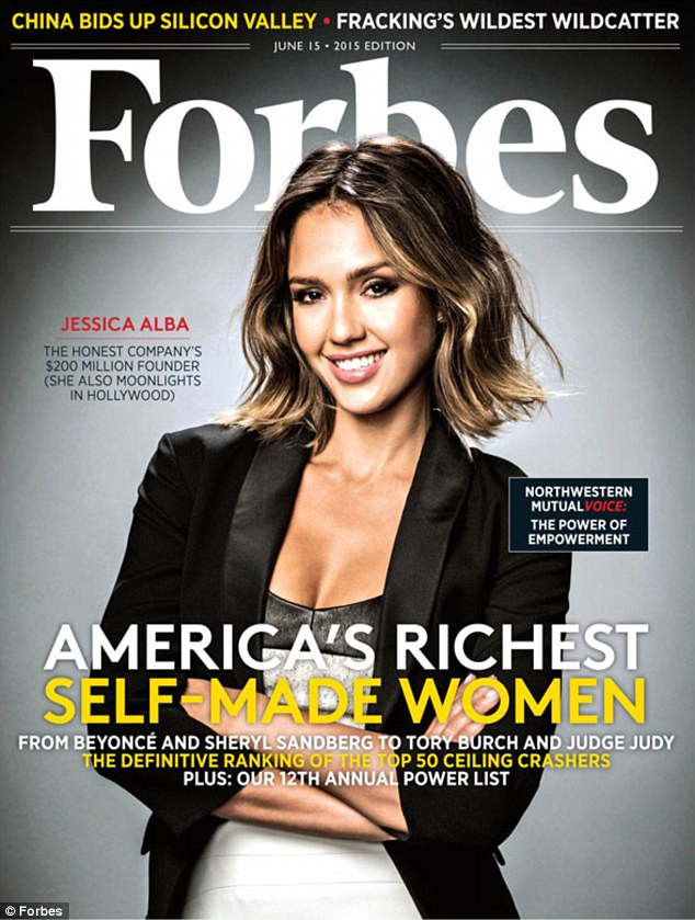 The mother-of-two graced the cover of Forbes magazine in the latest issue titled 'America's Richest Self-Made Women' as her fortune was pegged at $200 million