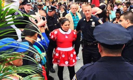 Minnie Mouse And Hello Kitty Involved In Times Square Brawl