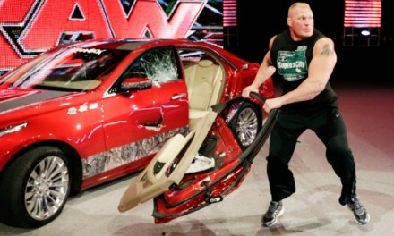 Brock Lesnar hits fan with car door on RAW (VIDEO)