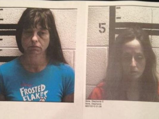 Wanda Sue Redfern (left) and Stephanie Stone (right) were arrested and charged with false imprisonment. (Photo: WRCB/ Murray Co. Sheriff's Dept.)