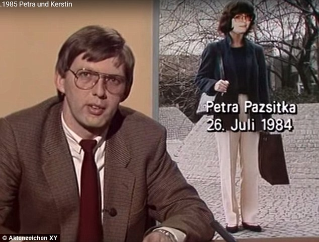 Show: During widespread manhunts for Miss Pazsitka, detectives turned to popular German crime show Aktenzeichen XY (above) for help, and a suspect in another murder subsequently confessed to killing her