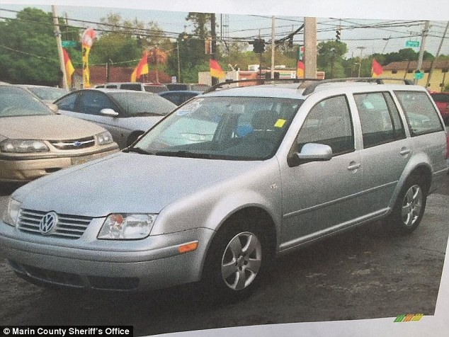 Police hope that Carter's silver Volkswagen, like the one above, might lead them to the murderers