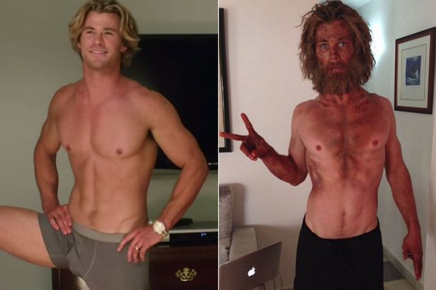 chris hemsworth weight loss before and after