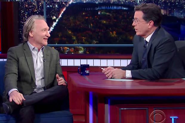 stephen colbert Bill maher talk religion (VIDEO)