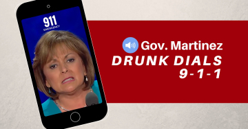 Susana Martinez hotel party 911 Call