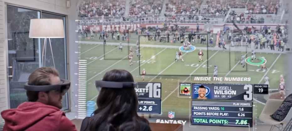 Microsoft Hololens football
