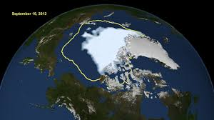 Arctic sea ice extent hits new record low
