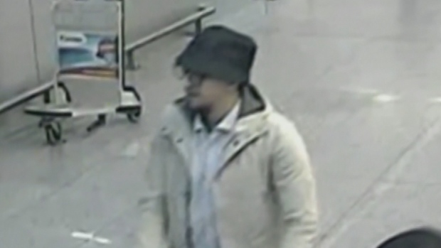 Mohamed Abrini, wanted over November's Islamic State attacks in Paris, has been arrested in Brussels. He is 'more than likely' the 'man in the hat' seen on security camera footage at Brussels airport on March 22 with two suicide bombers, according to Belgium's public broadcaster. (Belgian Federal Police/Reuters)