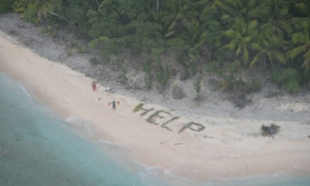 Castaways spell 'help' with palm branches:  Rescued After 3 Days (PHOTO)